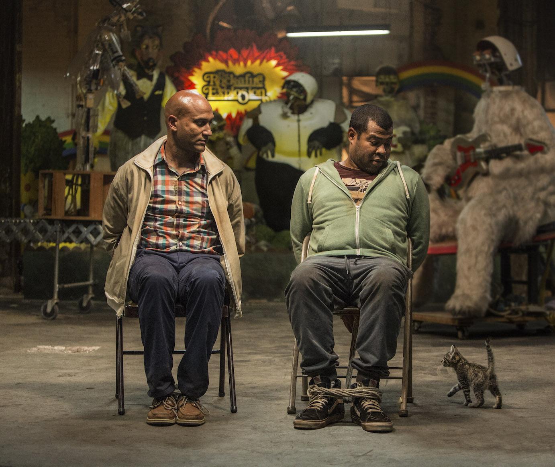 "(L-r) KEEGAN-MICHAEL KEY as Clarence and JORDAN PEELE as Rell in ""KEANU,"" a Warner Bros. Pictures release. Photo by Steve Dietl"
