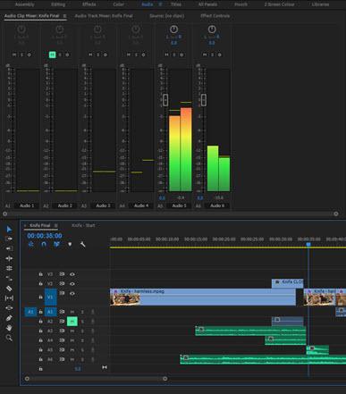 Audio Clip Mixer in Premiere Pro