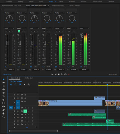 Audio Track Mixer
