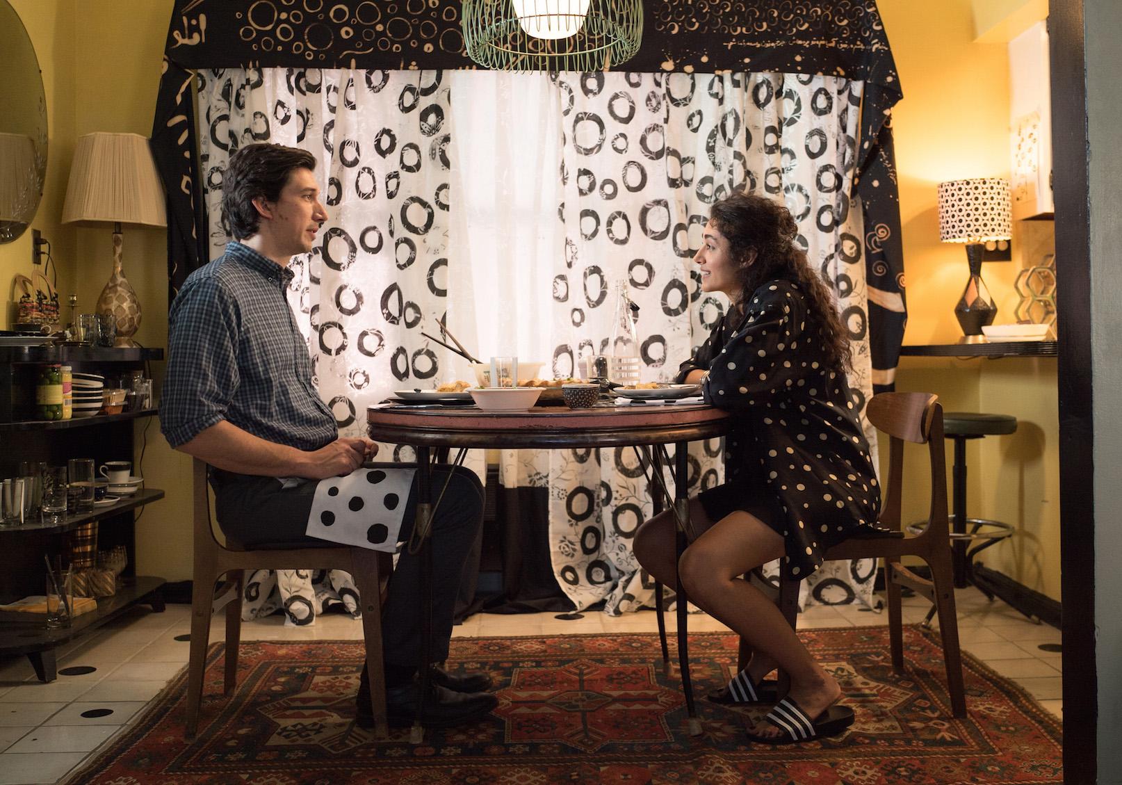 "Adam Driver as Paterson, Golshifteh Farahani as Laura in ""Paterson."" Credit: Mary Cybulski/Amazon Studios & Bleeker Street © 2016 Amazon Studios & Bleecker Street"
