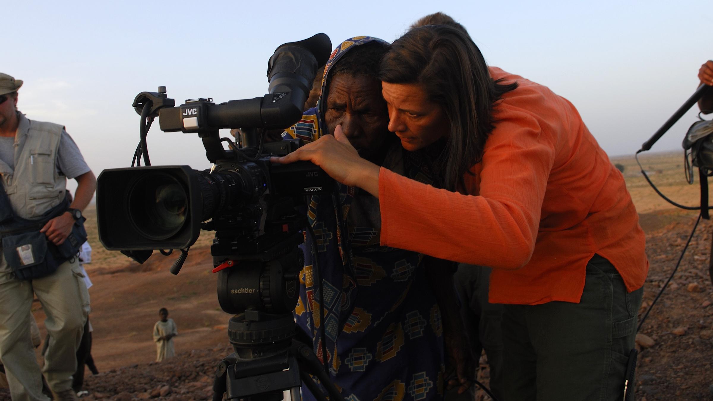 "Kirsten Johnson (left) in ""Cameraperson"" Credit: Lynsey Addario / Janus Films"