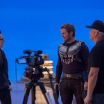 James-Gunn-and-Chris-Pratt-working-on-Guardians-of-the-Galaxy-Vol-2