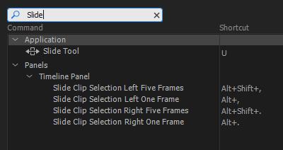 Slide Keyboard Shortcut Options