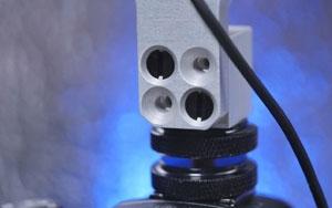 Nylon breakaway screws protect your camera's hotshoe.