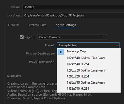 Create Proxies Options