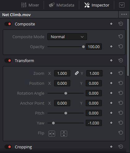 Clip-based Parameters in DaVinci Resolve