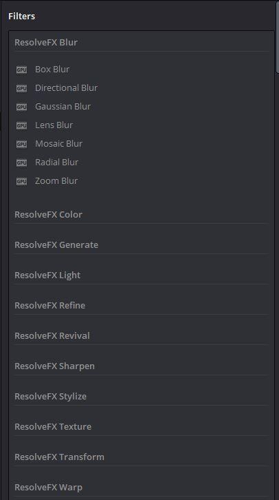 ResolveFX in DaVinci Resolve