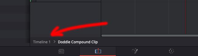 DaVinci Resolve 15 - Compound Clip Step Out