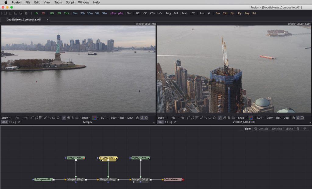 DaVinci Resolve 15 - VFX Connect Clip Fusion