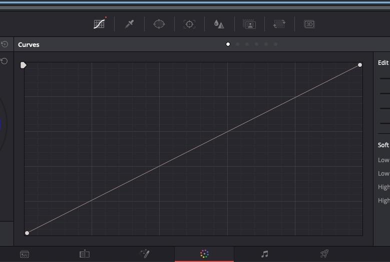 DaVinci Resolve - Curves Parameter